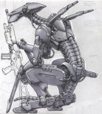 Hatchet Face Grey Gun