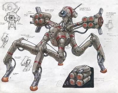 Quadroped Robot Missiles