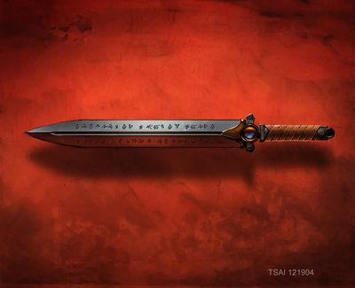 enchanted silver blade