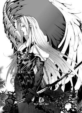 FF7  Sephiroth by elf art