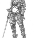 Female samurai class by shonensan