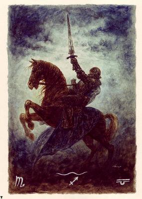 luis royo tarot caballo de espadas