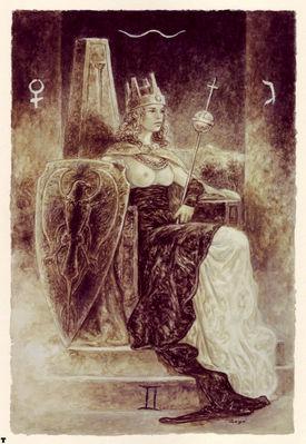 luis royo tarot la emperatriz