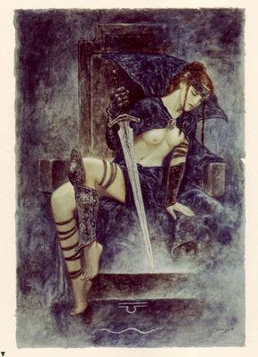 luis royo tarot reina de espadas