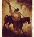 luis royo tarot caballo de oros