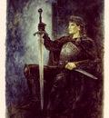luis royo tarot rey de espadas