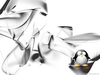 linux tux crystal