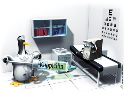 linux tux knopicilin