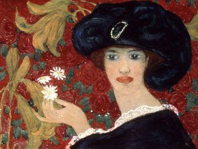 Lady Holding Daises, A Schevtshenko