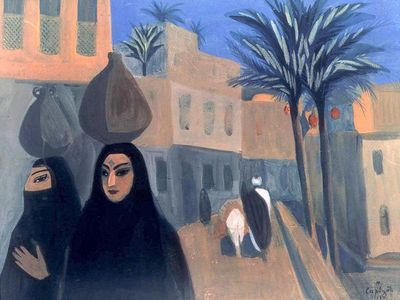 Street in Cairo 1911, Martiros Sar jan