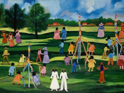 Maypoles, Anna Belle Lee Washington