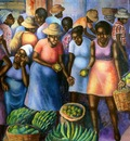 Fruit Market, Isle of Trinidad, Marcelio
