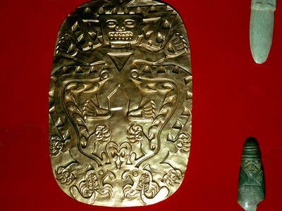 Peruvian Gold Plaque, Smithsonian, Washington D C