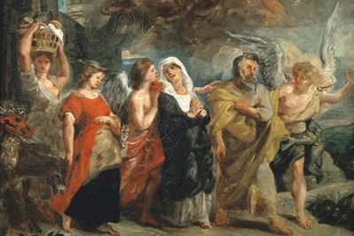Copy After The Flight of Lot, Rubens