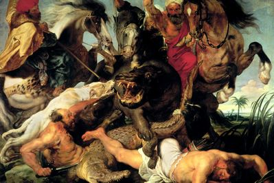 The Hippo Hunt, Rubens