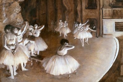 ballet rehearsal on the set, degas,