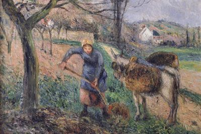 Landscape with a Donkey, Pissarro