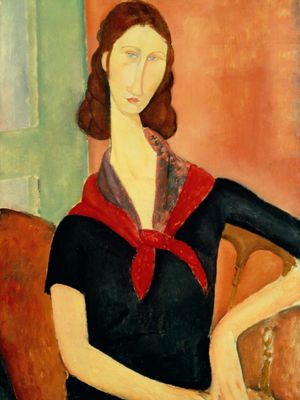 Young Woman (With Silk Neckerchief), Modigliani