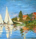 The Regatta at Argenteuil, Claude Monet