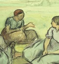 three peasant women, pissarro,