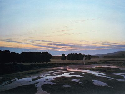 great preserve, the (ostra preserve), casper david friedrich, circa