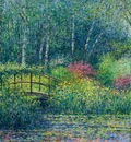 japanese bridge   pond, charles neal,