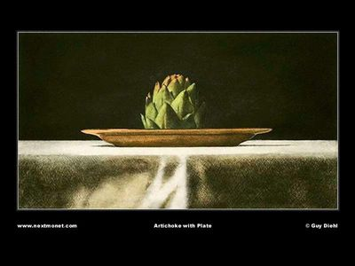 Artichoke with Plate