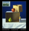 Torn Bag with Peach