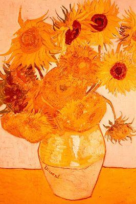 sunflowers, van gogh,