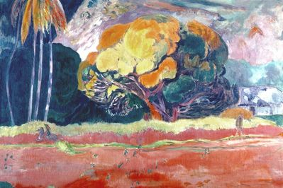 the big tree, gauguin,