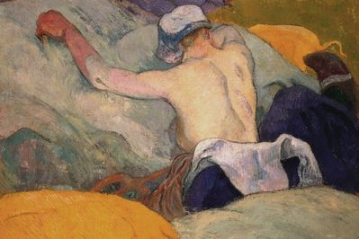 woman in the hay, gauguin,