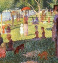 sunday afternoon on the isle of lan grande jatte, seurat, (study) 1884