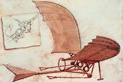 flying machine, leonardo da vinci, «Fantasy art series «Fantasy «Anime  wallpapers