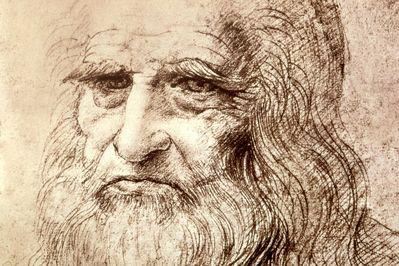self portrait in old age, leonardo da vinci,