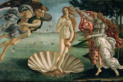 the birth of venus, botticelli,