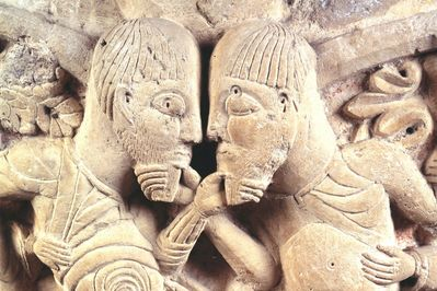 The Dispute, 12th Century, Artist Unknown