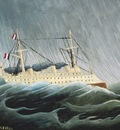 The Ship in the Storm, Rousseau