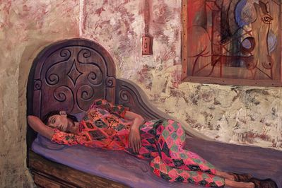 Columbian Woman on a Divan, Matias Morales