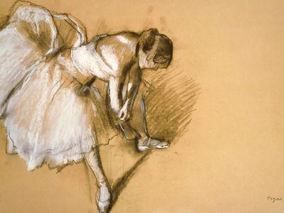 Dancer Readjusting Her Slipper, Edgar Degas