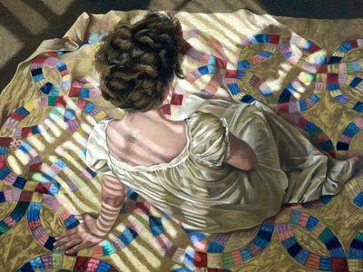 Woman Seated on a Quilt, Helen J  Vaughn