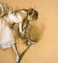 Dancer Readjusting Her Slipper, Edgar Degas