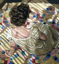 Woman Seated on a Quilt, Helen J  Vaughn