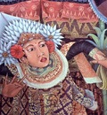 Folk Painting of a Male Dancer, Bali, Artist Unknown