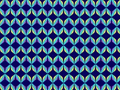 Aqua Diamond Pattern