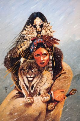 chris achilleos lynx woman