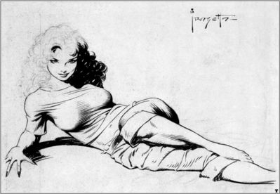 frank frazetta bw came the dawn