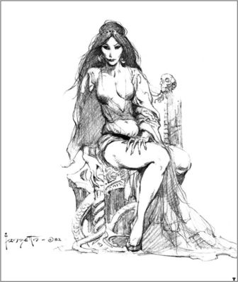 frank frazetta bw fire and ice