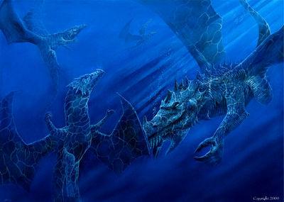 swimming dragons