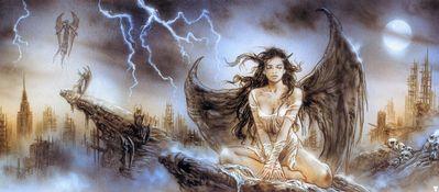 luis royo fallen angel sketch001