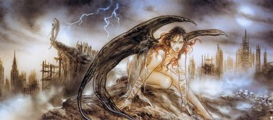 luis royo fallen angel sketch003